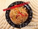 Рецепта Китайски люти оризови спагети с пиле и сос хойсин